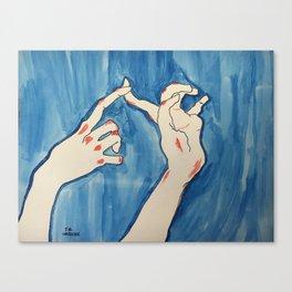 All Scraped Up (hand study no.2) Canvas Print