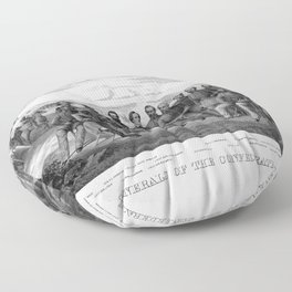 The Generals Of The Confederate Army Floor Pillow