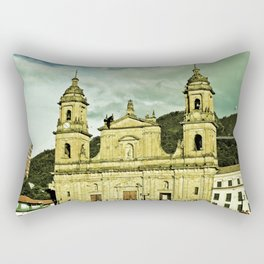 Cathedral of Bogota. Rectangular Pillow