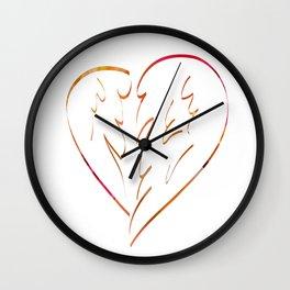 Winged heart Wall Clock