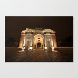 The Menin Gate by Night  Canvas Print