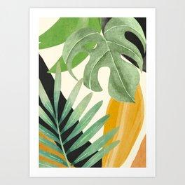 Abstract Art Tropical Leaves 19 Art Print