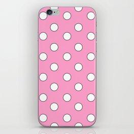 Pink Pastel Polka Dots iPhone Skin