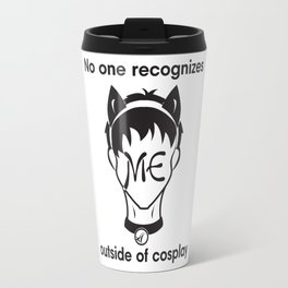 Recognize CAT- Black print Travel Mug