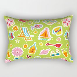 Summer Fun Green Rectangular Pillow