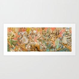 Derp Down Under Art Print