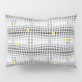 Dottywave - Grey and yellow wave dots pattern Pillow Sham