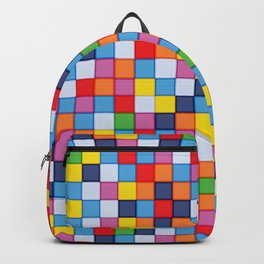 Abstract colorful mosaic pattern Backpack