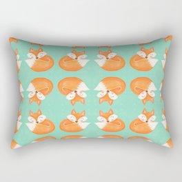 Sweet Sleeping Fox Rectangular Pillow