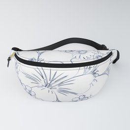 Simple Floral Sketch Fanny Pack