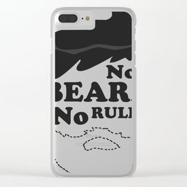 """No Beard - No Rules"" Clean Shaven No Facial Hair Outline Art Clear iPhone Case"