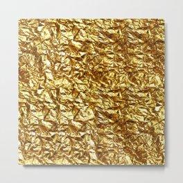 GOLD METAL TEXTURE solid color  Metal Print