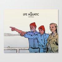 life aquatic Canvas Prints featuring Life Aquatic by Matt Byle