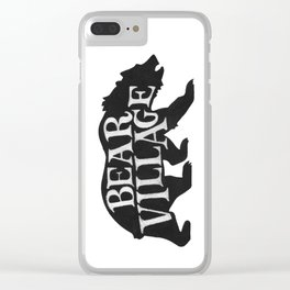 Bear Village - Grizzly Clear iPhone Case