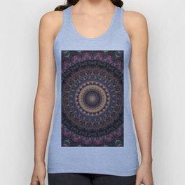 Mandala in purple and brown tones Unisex Tank Top