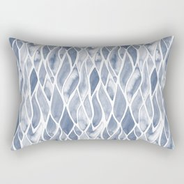 Sand Flow Pattern - DarkBlue Rectangular Pillow