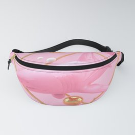 Shark in pink - Animal Display 3D series Fanny Pack