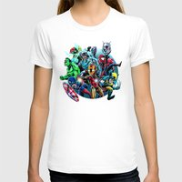 super heroes T-shirts featuring Super Heroes by Carrillo Art Studio