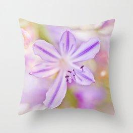 Summer dance - macro  floral photography Throw Pillow