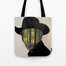 Cowboy in the wood Tote Bag