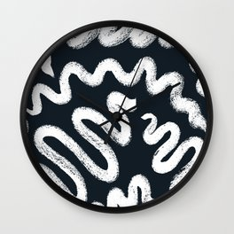Chalky Squiggle print Wall Clock