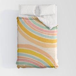 Rainbow Reflections / Colorful Geometric Comforters