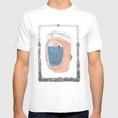 20000 Leagues Under the Sea White MEDIUM Mens Fitted Tee