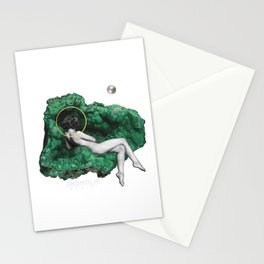 feeling love like a malachite does Stationery Cards