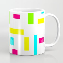 Abstract Theo van Doesburg Composition Neon on White Coffee Mug