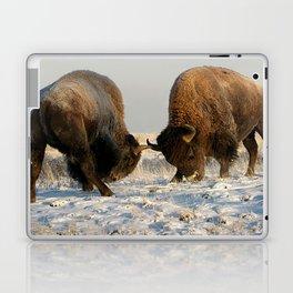 BISON FIGHTING Laptop & iPad Skin