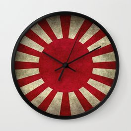 Imperial Japanese Army Ensign Flag - Vintage retro version Wall Clock