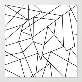 Simple Modern Black and White Geometric Pattern Canvas Print