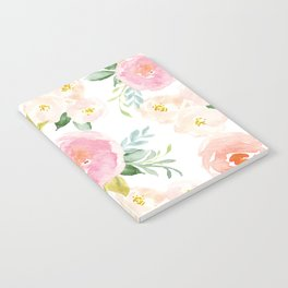 Sweet Pink Blooms (Floral 02) Notebook