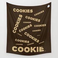 cookies Wall Tapestries featuring COOKIES! by Lindsay Spillsbury