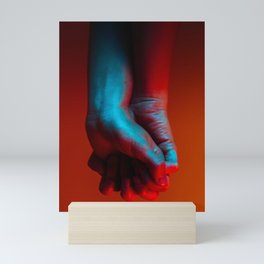 Red Hot Hands 4 of 4 - Modern Photography Mini Art Print