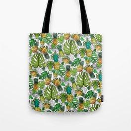 Tumbling Pineapples and Tropical Vibes Tote Bag