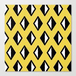 Diamond Pattern Yellow Canvas Print