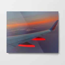 On the Wing of a Sunset Metal Print