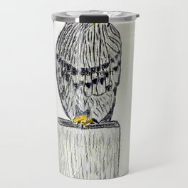 Fine Art New Zealand  Falcon in Graphite and Charcoal on 300 gsm  Travel Mug