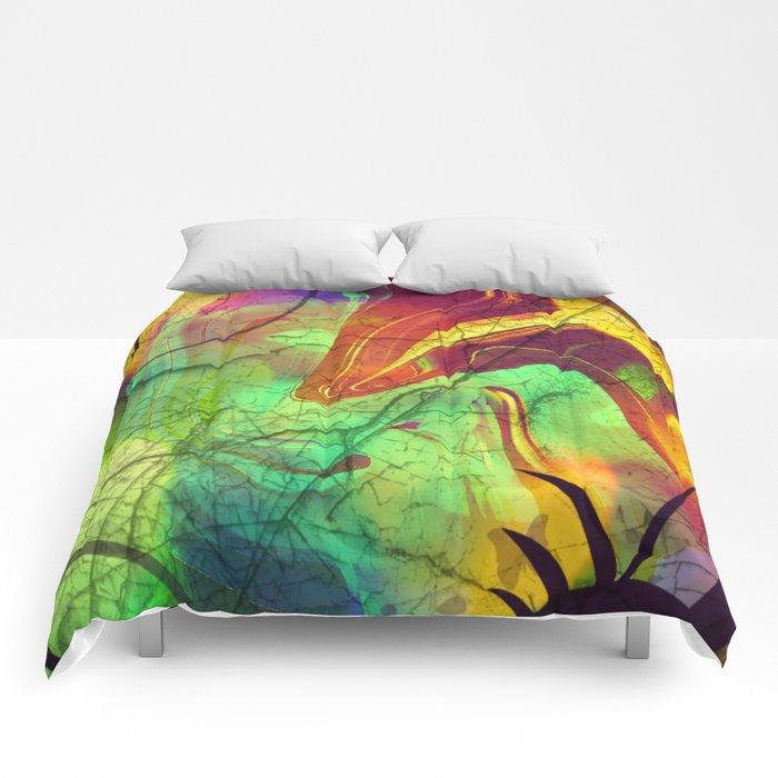 Opalescent Alien View Comforters