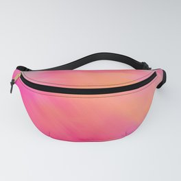 Modern abstract fuchsia violet coral brushstrokes Fanny Pack