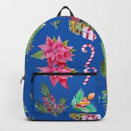 Christmas Pattern with Australian Native Bottlebrush Flower Backpack