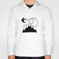 swallow Hoodies featuring Mountain Swallow by Satok