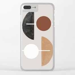Moon and Sun Abstract Clear iPhone Case
