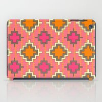 kilim iPad Cases featuring tangerine kilim by Sharon Turner