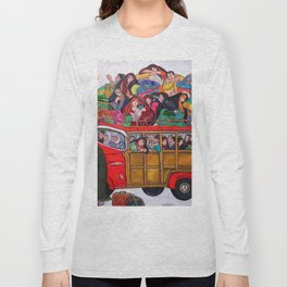 BUS OF KINGDOM OF DHAGDAD IN 1919 Long Sleeve T-shirt