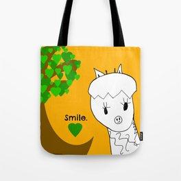 Smile! Sweet Giraffe - Art by Child Tote Bag