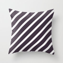 CLASSIC CROSS CRANBERRY Stripes Throw Pillow