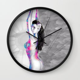 Orgy of Color and Beauty Wall Clock