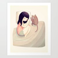 best friends Art Prints featuring Best Friends by Nan Lawson